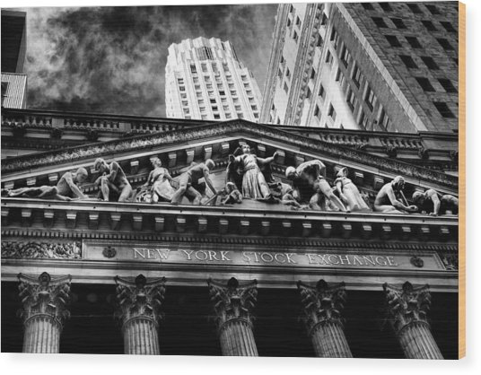 New York Stock Exchange Wood Print by Jose Maciel
