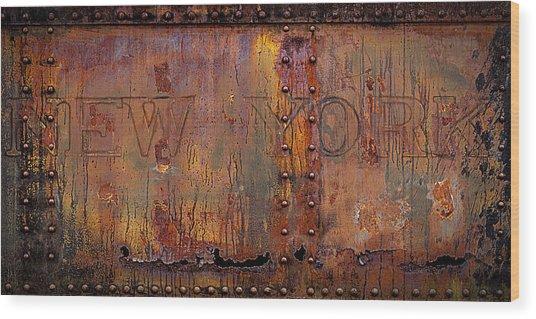 New York-subway Car Side Wood Print by Joe Gemignani