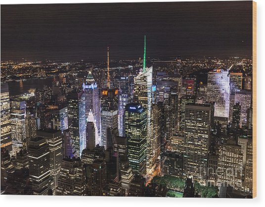 New York Times Square Wood Print