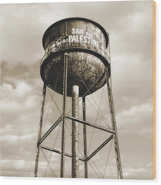 New York Water Towers 11 - Greenpoint Brooklyn Wood Print