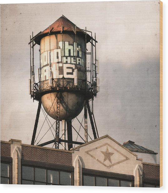 New York. Water Towers 6 Wood Print
