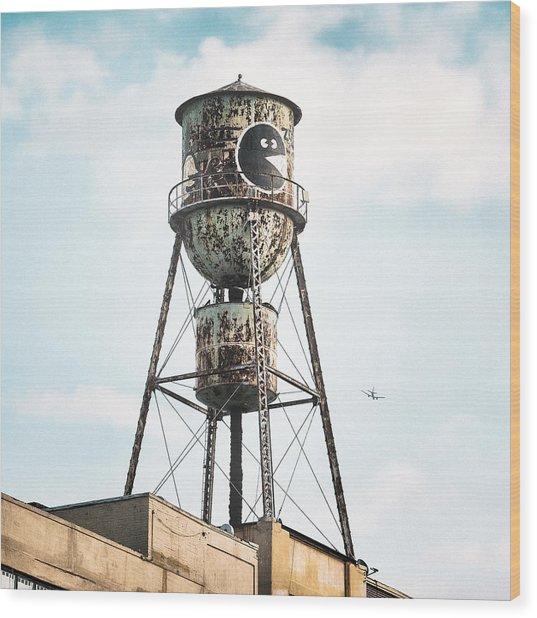 New York Water Towers 9 - Bed Stuy Brooklyn Wood Print