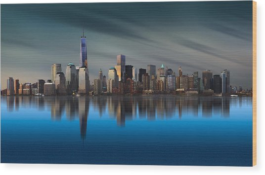 New York World Trade Center 1 Wood Print by Yi Liang