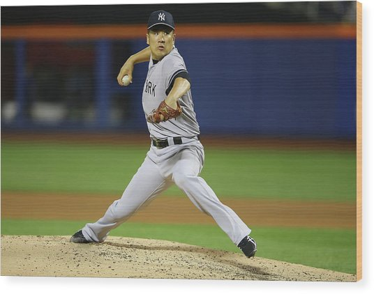 New York Yankees V New York Mets Wood Print by Al Bello