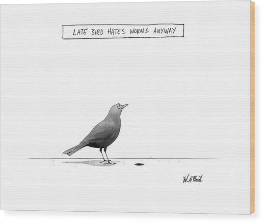 New Yorker April 10th, 2017 Wood Print