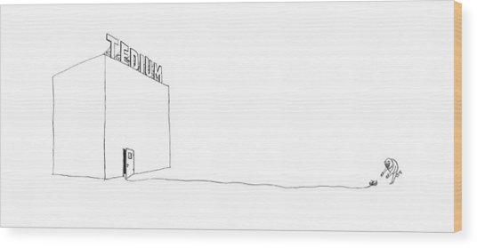 New Yorker April 17th, 2017 Wood Print