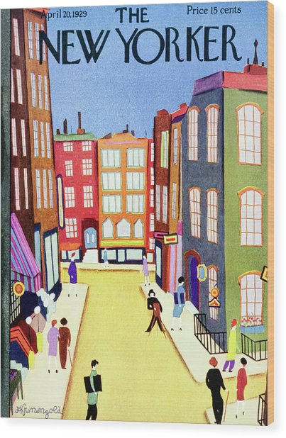 New Yorker April 20 1929 Wood Print by Arthur K. Kronengold