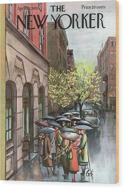 New Yorker April 21st, 1951 Wood Print
