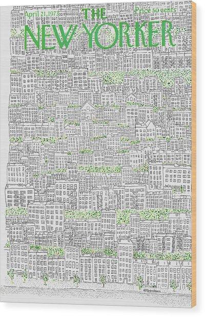 New Yorker April 21st, 1973 Wood Print