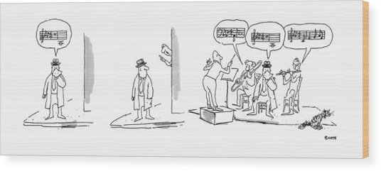 New Yorker April 21st, 1975 Wood Print