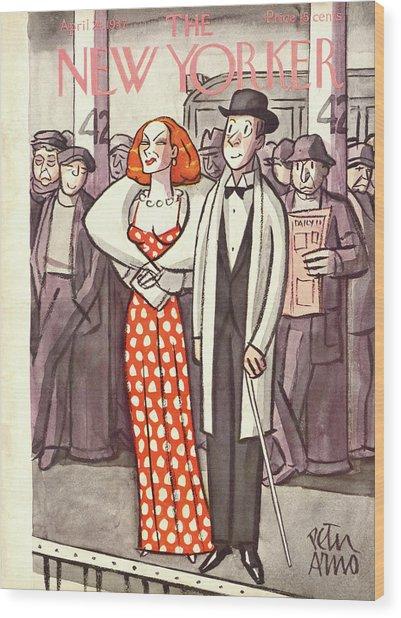 New Yorker April 24th, 1937 Wood Print