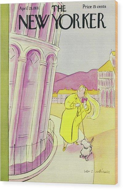 New Yorker April 25 1931 Wood Print by Helene E. Hokinson