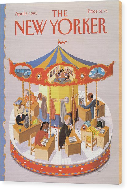 New Yorker April 8th, 1991 Wood Print