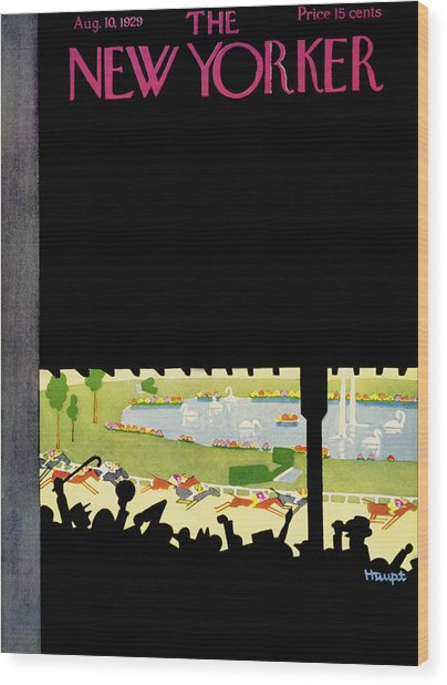 New Yorker August 10 1929 Wood Print by Theodore G. Haupt