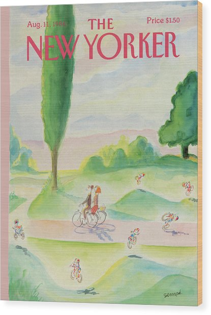 New Yorker August 11th, 1986 Wood Print