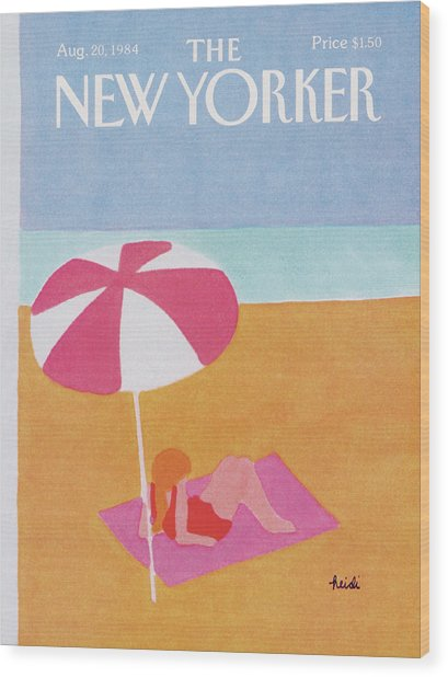 New Yorker August 20th, 1984 Wood Print