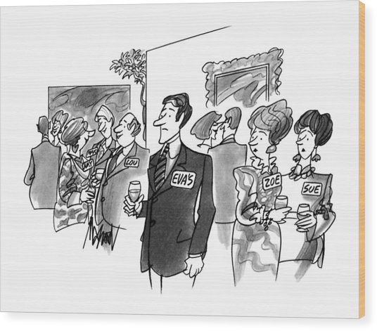 New Yorker August 20th, 1990 Wood Print