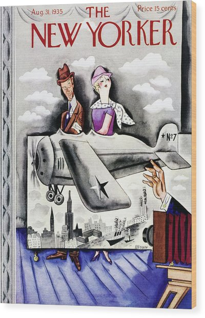 New Yorker August 31 1935 Wood Print by Harry Brown