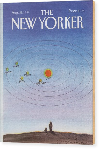 New Yorker August 31st, 1987 Wood Print