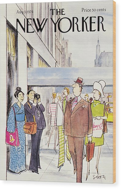 New Yorker August 5th, 1974 Wood Print