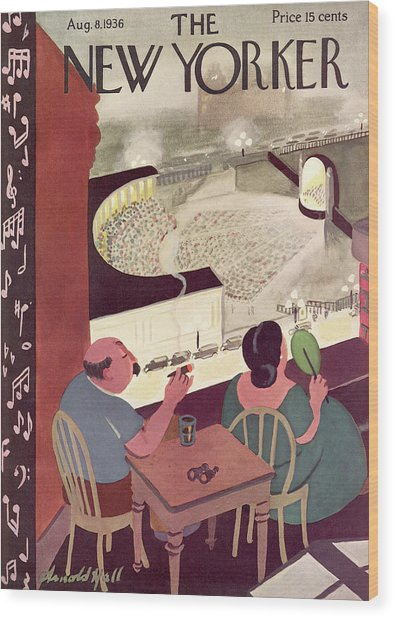 New Yorker August 8th, 1936 Wood Print