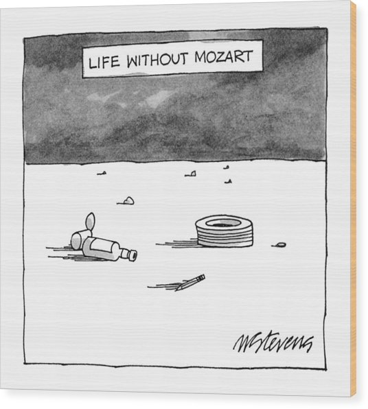 Life Without Mozart Wood Print