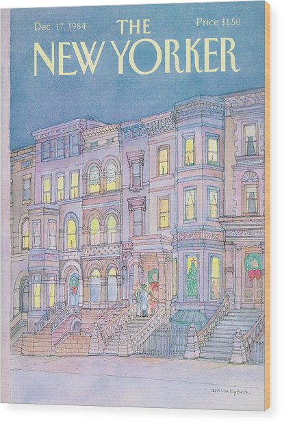 New Yorker December 17th, 1984 Wood Print
