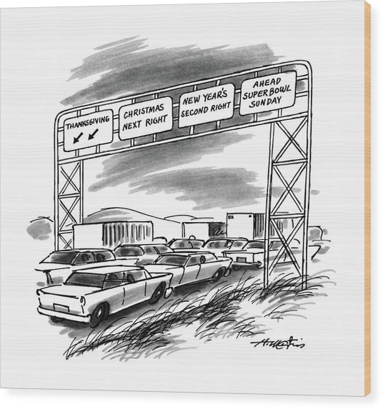 New Yorker December 1st, 1986 Wood Print