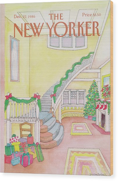 New Yorker December 22nd, 1986 Wood Print