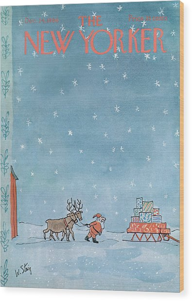 New Yorker December 24th, 1966 Wood Print
