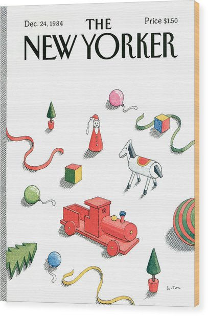 New Yorker December 24th, 1984 Wood Print