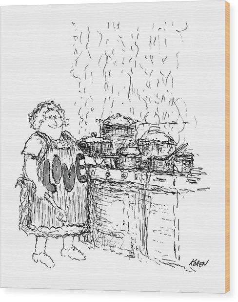 New Yorker December 27th, 1969 Wood Print by Edward Koren