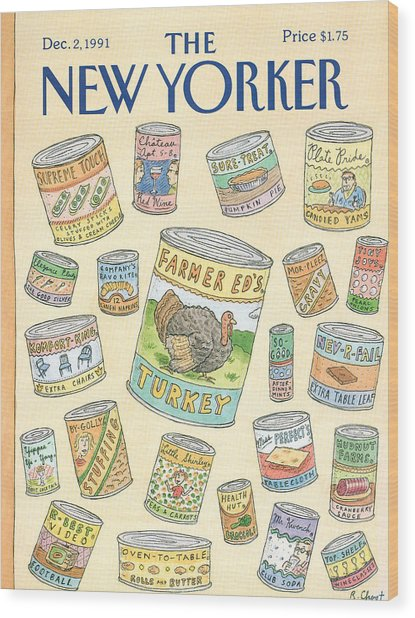 New Yorker December 2nd, 1991 Wood Print