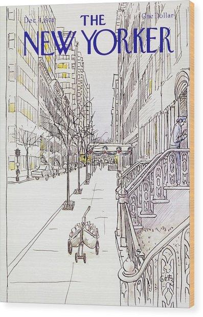 New Yorker December 4th 1978 Wood Print by Arthur Getz