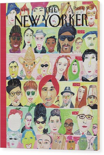 New Yorker December 4th, 1995 Wood Print