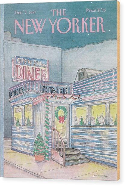 New Yorker December 7th, 1987 Wood Print