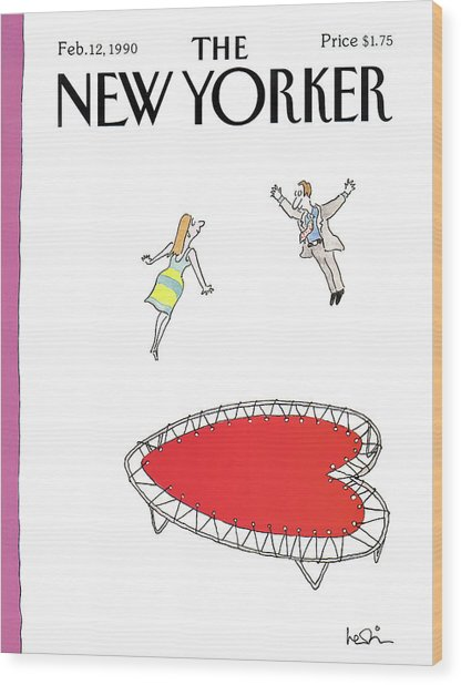 New Yorker February 12th, 1990 Wood Print