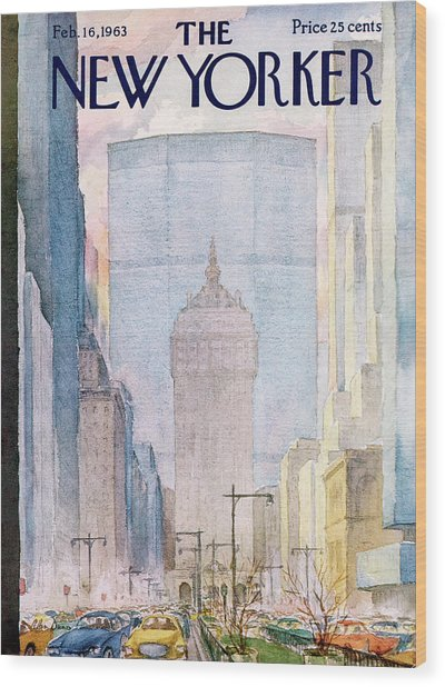 New Yorker February 16th, 1963 Wood Print