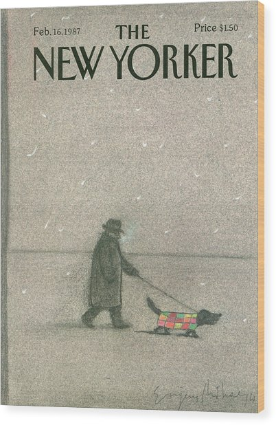 New Yorker February 16th, 1987 Wood Print