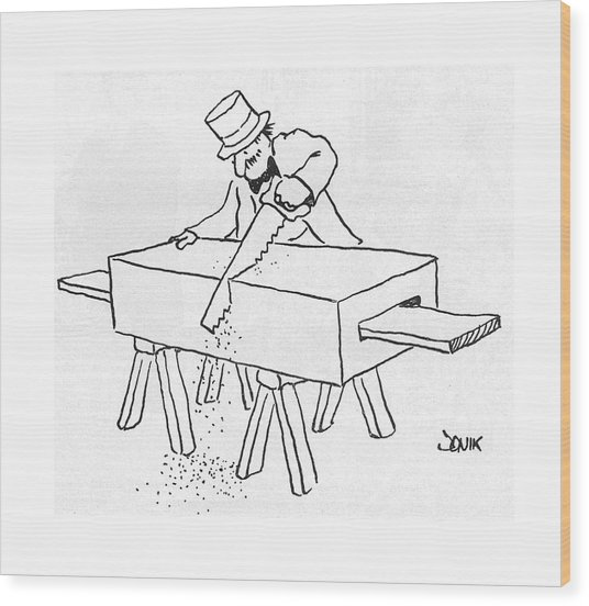 New Yorker February 17th, 1975 Wood Print