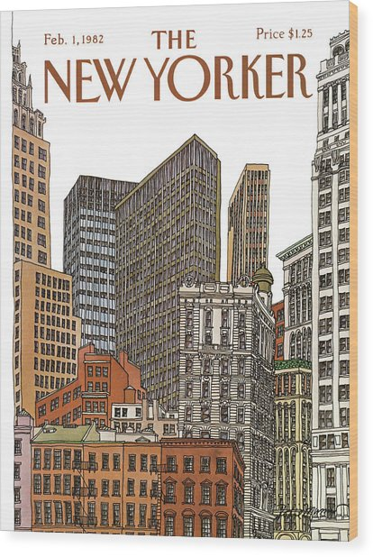 New Yorker February 1st, 1982 Wood Print