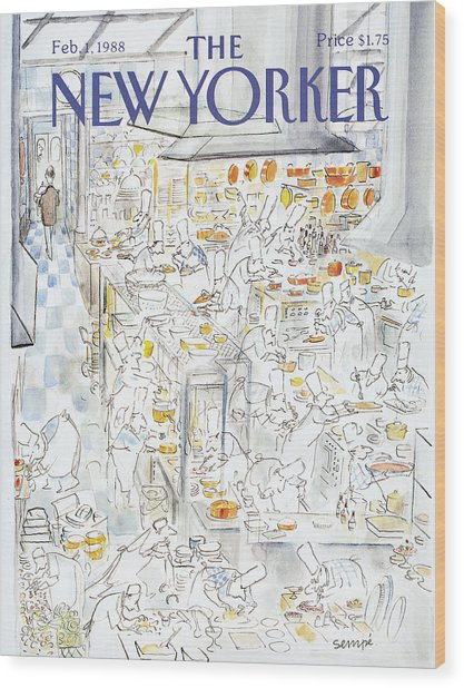 New Yorker February 1st, 1988 Wood Print