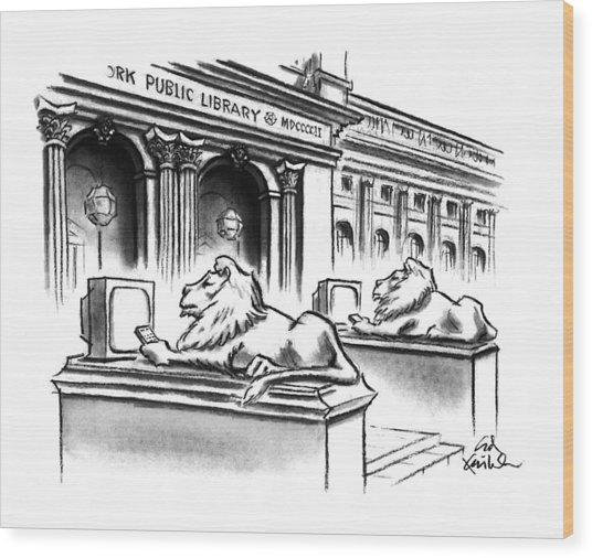 New Yorker February 1st, 1993 Wood Print