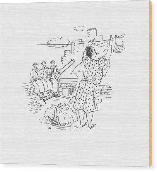 New Yorker February 21st, 1942 Wood Print