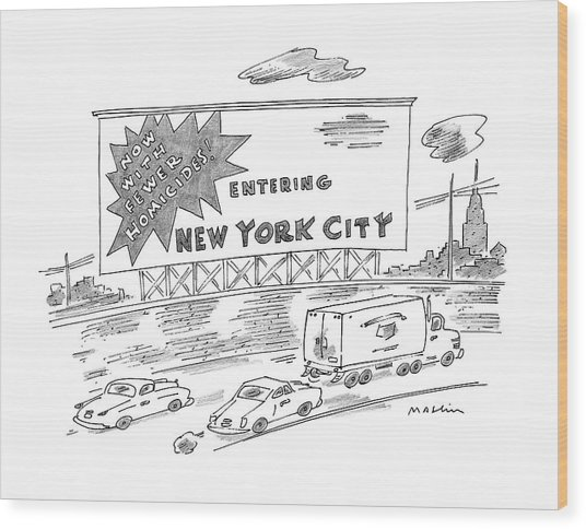 New Yorker February 24th, 1997 Wood Print
