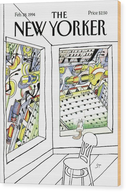 New Yorker February 28th, 1994 Wood Print