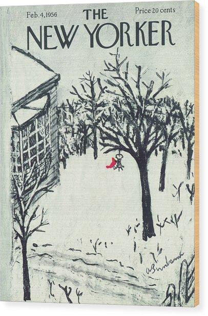 New Yorker February 4th, 1956 Wood Print