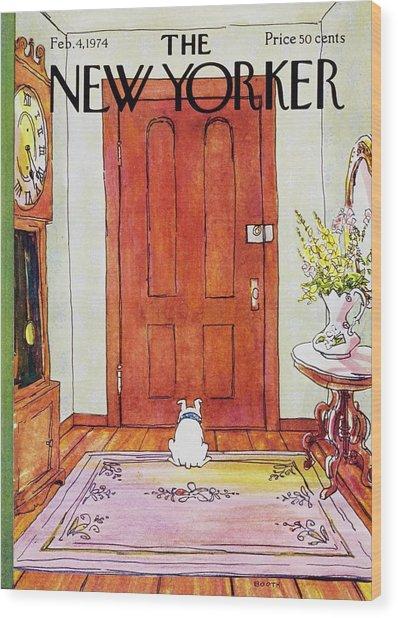 New Yorker February 4th 1974 Wood Print