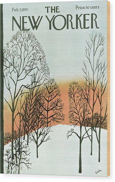 New Yorker February 7th, 1970 Wood Print