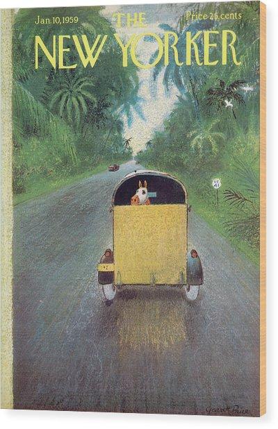 New Yorker January 10th, 1959 Wood Print